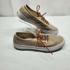 Vans Washed Slim Canvas Sneakers with Leather Laces Woman's 9.5, Men's 8 Low-top